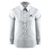 Ladies Red House White Long Sleeve Shirt-Tiger