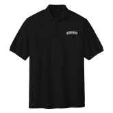 Black Easycare Pique Polo-Arched Jackson State University