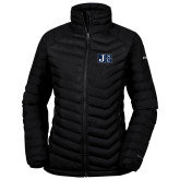 Columbia Powder Lite Ladies Black Jacket-Official Logo
