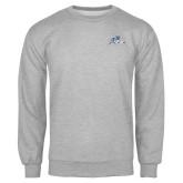 Grey Fleece Crew-Tiger