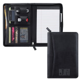 Pedova Black Jr. Zippered Padfolio-Official Logo Engraved