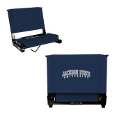 Stadium Chair Navy-Arched Jackson State University