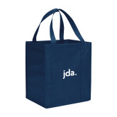 Non Woven Navy Grocery Tote-jda
