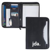Wall Street Black Zippered Padfolio-jda - 2 inches wide