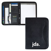 Insight Black Calculator Padfolio-jda - 2 inches wide