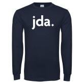 Navy Long Sleeve T Shirt-jda