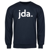 Navy Fleece Crew-jda