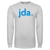 White Long Sleeve T Shirt-jda