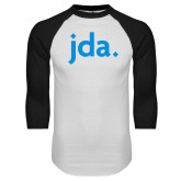 White/Black Raglan Baseball T Shirt-jda