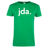Ladies Kelly Green T Shirt-jda