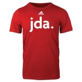 Adidas Red Logo T Shirt-jda
