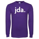 Purple Long Sleeve T Shirt-jda
