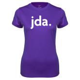 Ladies Syntrel Performance Purple Tee-jda