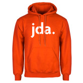 Orange Fleece Hoodie-jda