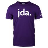 Adidas Purple Logo T Shirt-jda