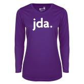 Ladies Syntrel Performance Purple Longsleeve Shirt-jda