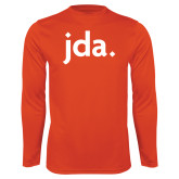 Performance Orange Longsleeve Shirt-jda