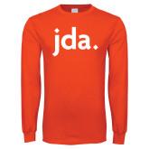 Orange Long Sleeve T Shirt-jda