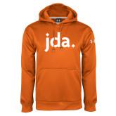 Under Armour Orange Performance Sweats Team Hoodie-jda