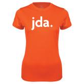 Ladies Syntrel Performance Orange Tee-jda