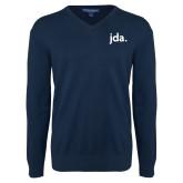 Classic Mens V Neck Navy Sweater-jda