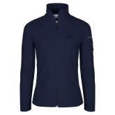 Columbia Ladies Full Zip Navy Fleece Jacket-jda