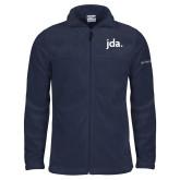 Columbia Full Zip Navy Fleece Jacket-jda