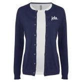 Ladies Navy Cardigan-jda