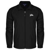 Full Zip Black Wind Jacket-jda
