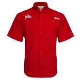 Columbia Tamiami Performance Red Short Sleeve Shirt-jda