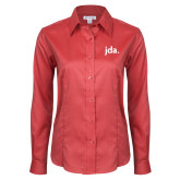 Ladies Red House Red Long Sleeve Shirt-jda