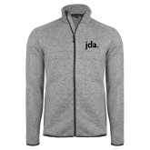 Grey Heather Fleece Jacket-jda