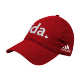 Adidas Red Slouch Unstructured Low Profile Hat-jda