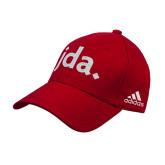Adidas Red Structured Adjustable Hat-jda
