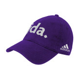Adidas Purple Slouch Unstructured Low Profile Hat-jda