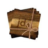Acacia Wood Coaster Set-jda