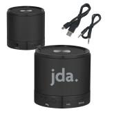 Wireless HD Bluetooth Black Round Speaker-jda