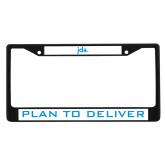 Metal License Plate Frame in Black-JDA