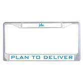 Metal License Plate Frame in Chrome-JDA