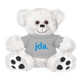 Plush Big Paw 8 1/2 inch White Bear w/Grey Shirt-jda