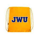 Gold Drawstring Backpack-JWU