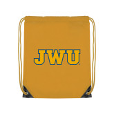 Gold Drawstring Backpack-JWU