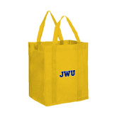 Non Woven Gold Grocery Tote-JWU