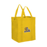 Non Woven Gold Grocery Tote-JWU Wildcats