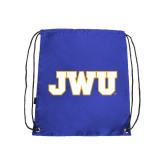 Royal Drawstring Backpack-JWU