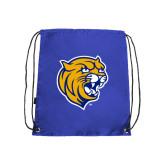 Royal Drawstring Backpack-Wildcat Head