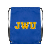 Royal Drawstring Backpack-JWU