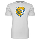 Next Level SoftStyle White T Shirt-Wildcat Head