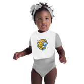 White Baby Bib-Wildcat Head