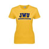 Ladies Gold T Shirt-JWU Cheerleading